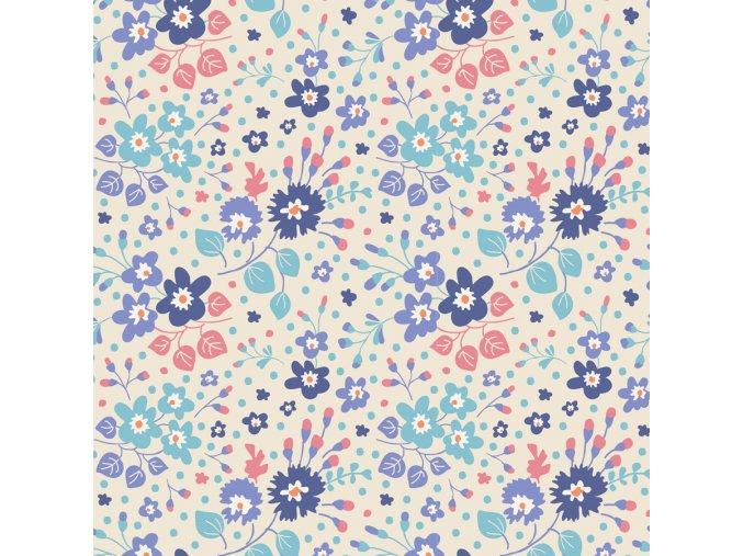 100194 Flower Confetti Blue