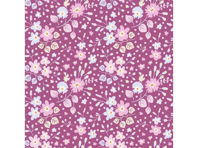 100199 Flower Confetti Plum