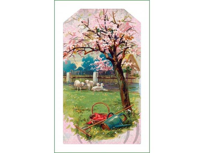 látkový vintage panel na šití obrázek natištěný na plátně na patchwork nášivka na oblečení (194)