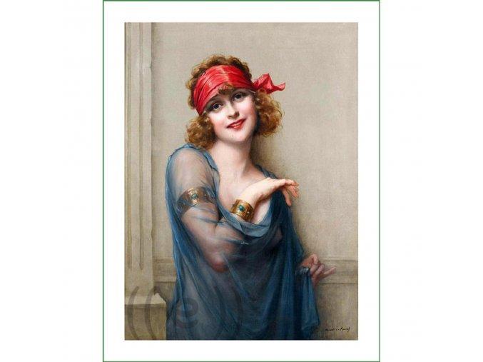 látkový panel obrázek natištěný na plátně na šití na patchwork vintage VierMa Francois Martin Kavel (2)