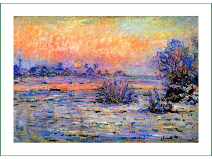 látkový panel na šití na patchwork prodej látek VierMa digitálně tištěný obraz Claude Monet (23)