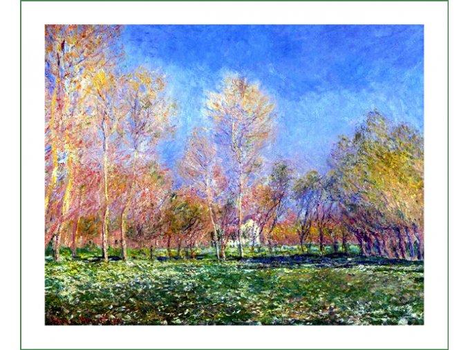 látkový panel na šití na patchwork prodej látek VierMa digitálně tištěný obraz Claude Monet (33)