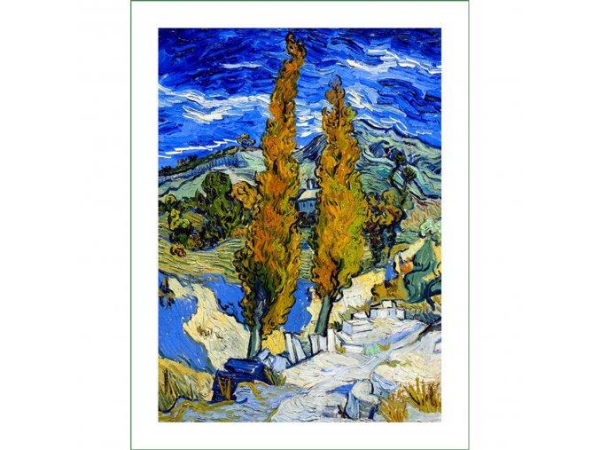 látkový panel Vincent Van Gogh (39) na patchwork i běžné šití obraz na látce nášivka