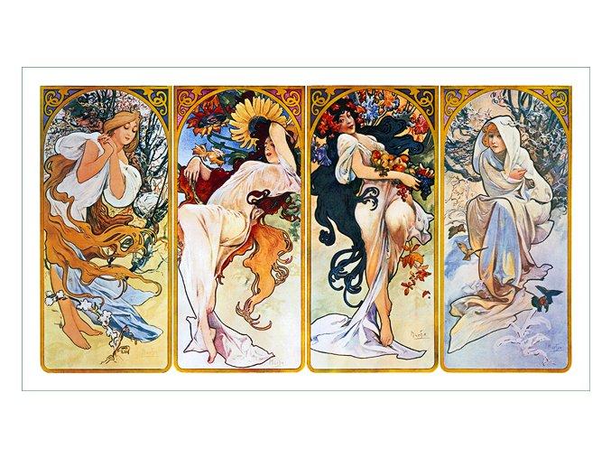 látkový panel Alfons Mucha (69) obraz na plátně na patchwok na šití prodej látek VierMa