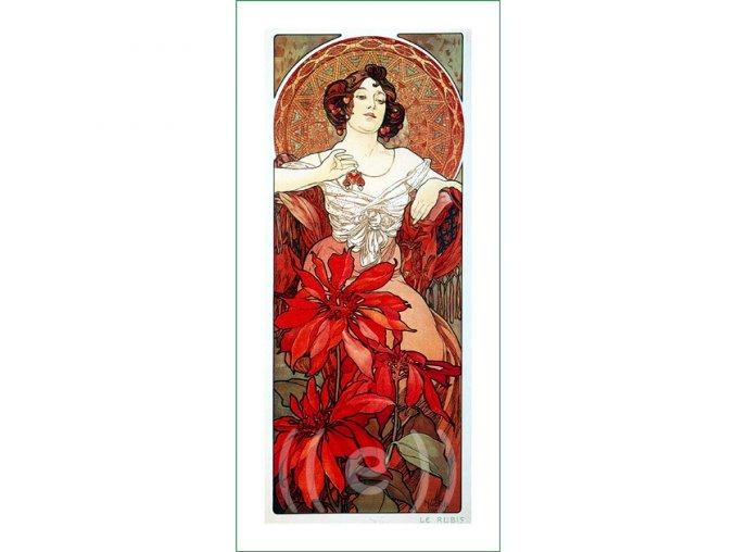 látkový panel Alfons Mucha (28) obraz na plátně na patchwok na šití prodej látek VierMa