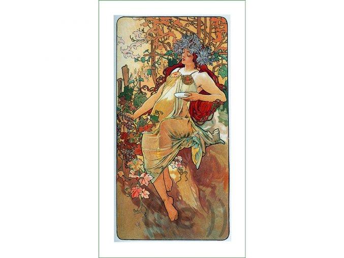 látkový panel Alfons Mucha (29) obraz na plátně na patchwok na šití prodej látek VierMa