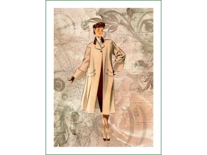 látkový panel na patchwork na šití nášivka vintage collage (104)