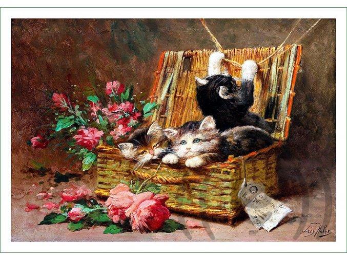 látkový panel nášivka obraz Léon Charles Huber (2)