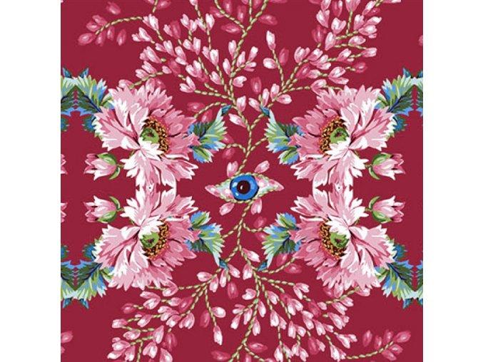 metráž americká látka luxusní bavlněné plátno vzor Královnin špión The Queen's Spy in Rose PWOB044.ROSE