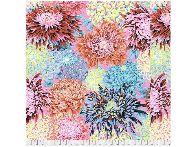 metráž květinový vzor chryzantémy kontrastní americká látka návrhář Philip Jacobs prodej VierMa.cz PWPJ041.CONTR