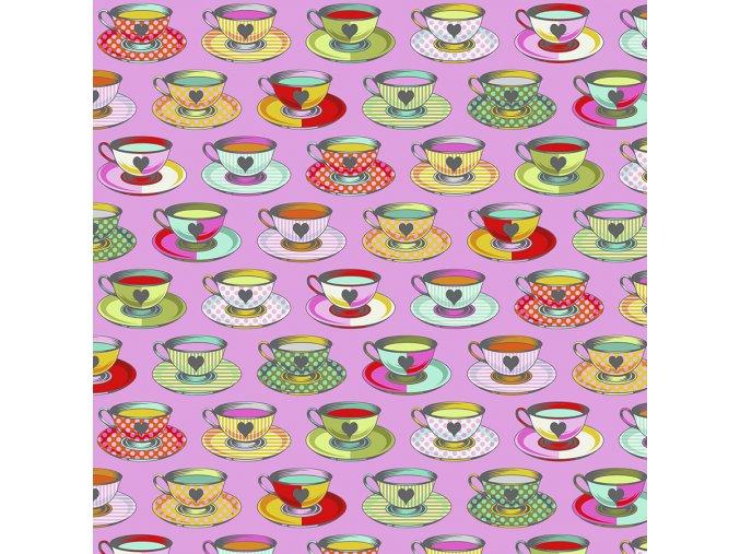 americká látka designová metráž návrhářka Tula Pink kolekce Curiouser and Curiouser Painted Tea Time in Wonder PWTP163.WONDER
