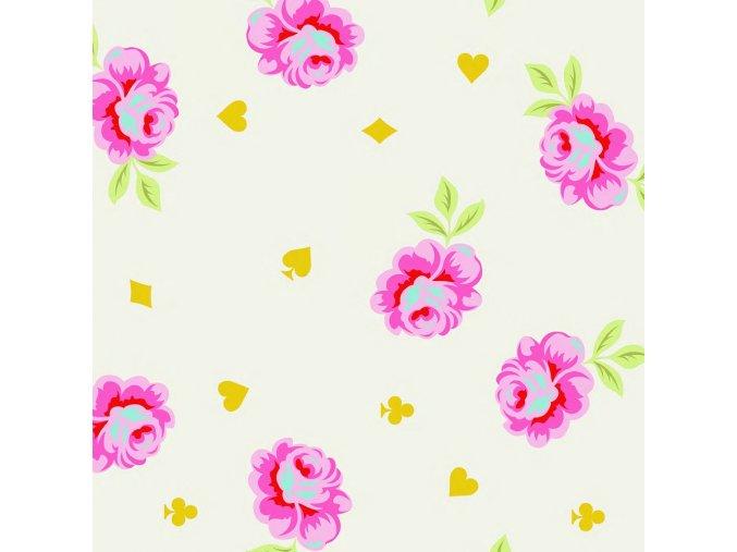 quilting back Tula Pink backing fabric látka velké šířky 274 cm na zadní stranu dek patchwork satén smetanový