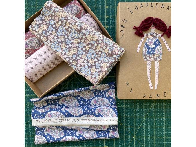 set látek originál TILDA na panenky patchwork dárková krabička pro švadlenky na panenky prodej VierMa
