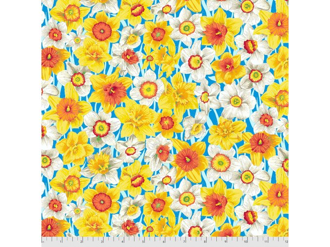 metráž narcisy louka americká látka návrhář Philip Jacobs na patchwork na šití bavlněné plátno Daffodil Meadow in Yellow PWSL101.YELLOW