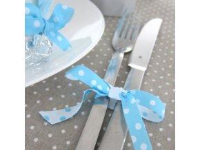 Stuha puntíkovaná bílo-modrá