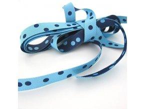 Stuha puntíkovaná modrá