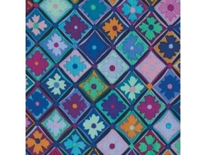 Antwerp Flowers in Blue, Kaffe Fassett