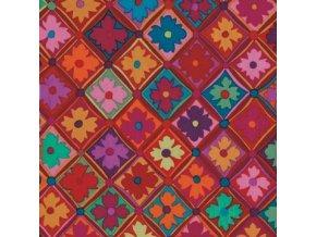 Antwerp Flowers in Red