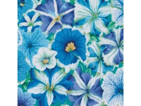 bavlněná látka Petúnie modré