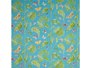 bavlněné plátno Butterfly Palm in Turquoise