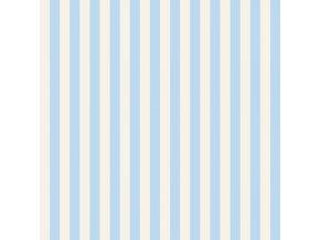 bavlněné plátno Tent Stripe in Sky