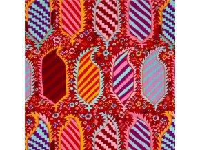 bavlněné plátno Herald in Red, Kaffe Fassett