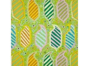 bavlněné plátno Herald in Green, Kaffe Fassett