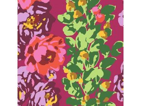bavlněné plátno Rose Vine in Wine, Amy Butler