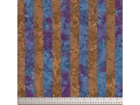 batikovaná látka Big Stripe in Blue