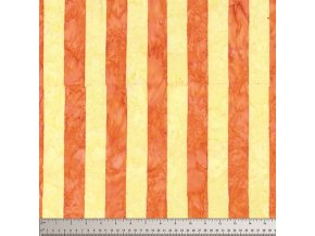 batikovaná látka Big Stripe in Yellow