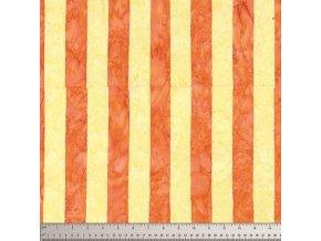 batikovaná látka Big Stripe in Yellow