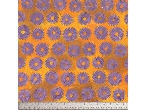 batikovaná metráž Saw Circles in Lilac