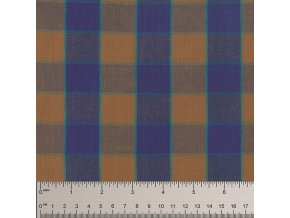 tkaná Checkerboard Plaid Ikat in Blue