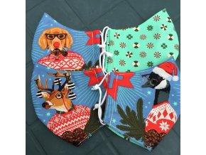 vánoční roušky s jelenem