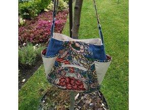 William Morris kabelka kombinace s džínovinou