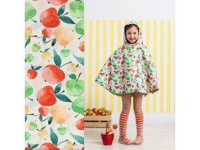 laminovaná bavlna Jablíčka veselá inspirace 1
