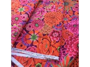 metráž Kaffe Fassett designová látka vierma americké plátno kouzelná zahrada plná květin