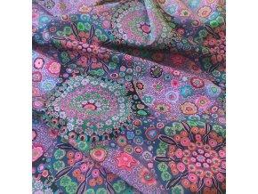 millefiore in dusty metráž Kaffe Fassett designová látka fialová bavlněné plátno americká bavlněná