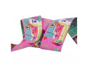 tkaná stuha motiv šicí stroj návrhářka tula pink