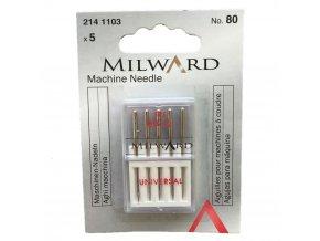 jehly do šicího stroje velikost 80 univerzální strojové jehly sada 5 ks značka Milward