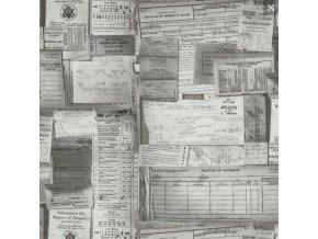 látka document in taupe TIM HOLTZ metráž na patchwork šití free spirit fabric prodej látek VierMa