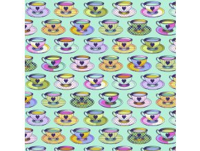 americká látka designová metráž návrhářka Tula Pink kolekce Curiouser and Curiouser Tea Time in Daydream PWTP163.DAYDREAM