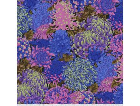 PWPJ107.COOL metráž látka se vzorem chryzantém návrhář Philip Jacobs pro Kaffe Fassett Collective na patchwork i běžné šití