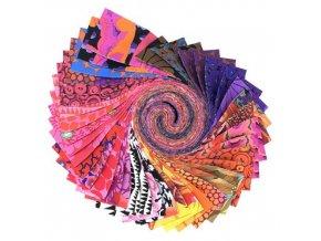 Kaffe Fassett Desing Roll set látek Free Spirit Fabric červená varianta sada na patchwork FB4DRGPFEB2021HOT