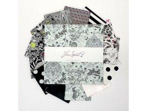 set látek na patchwork Tula Pink layer cake kolekce LINEWORK FB610TP.LINEWORK