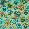 bavlněné plátno Macešky, zelená