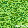 žraločí zuby v zelené 30x30 cm