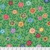 busy lizzy metráž květovaná látka se vzorem netykavky kaffe fassett americká bavlna zelená designová