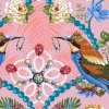 metráž americká látka bavlněné luxusní plátno prodej látek VierMa vzor The Queen's Jewels big PWOB035.GOLD PWOB034.ROSE