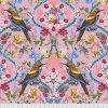 metráž americká látka bavlněné luxusní plátno prodej látek VierMa vzor The Queen's Jewels big PWOB034.ROSE
